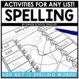 Editable Spelling Worksheets | Activities For Any 10 Words
