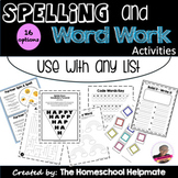 Spelling Activities For Any List | Word Work Centers