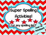 Spelling Activities For Any Spelling Lists