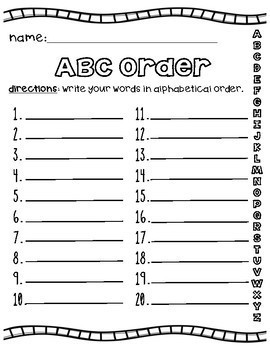 Spelling Activities For Any Word List- Homework, Centers & More!