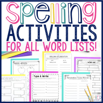 spelling activities no prep for all word lists 10 15 20 25 words. Black Bedroom Furniture Sets. Home Design Ideas