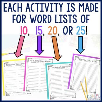 Spelling Activities FREEBIES!