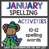 Spelling Homework for January