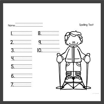 Spelling Activities for Any List January