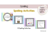 Spelling Activities Literacy Rotations