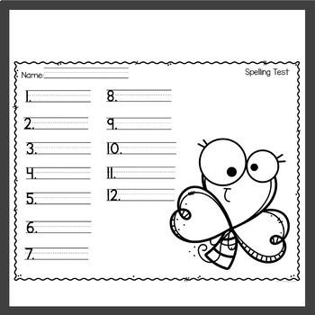 Spelling Homework for March