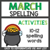 Spelling Activities for Any List March
