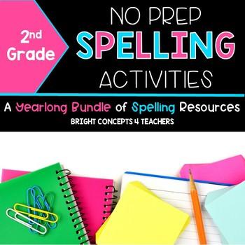 Spelling Activities NO PREP Year Long  {Second Grade}