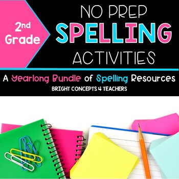 Spelling Activities NO PREP {Second Grade}