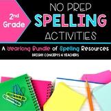 Spelling Activities NO PREP {Second Grade}