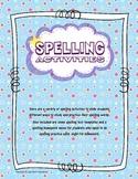 Spelling Activities Packet