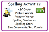 Spelling Activities Rainbow Words Picture Words ABC Order