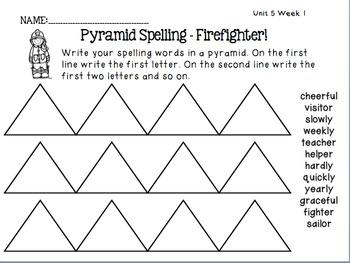 Spelling Activities Reading Street - Grade 2 Unit Five Version 2011