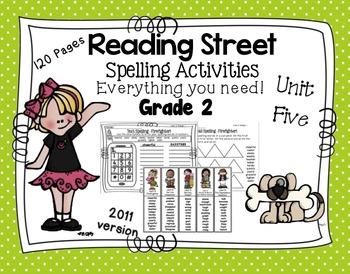 Spelling Activities Reading Street - Grade 2 Unit Five Ver