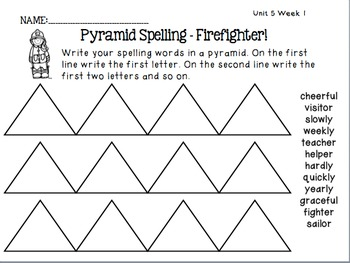 Spelling Activities Reading Street - Grade 2 Unit Five Version 2013