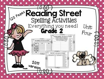 Spelling Activities Reading Street - Grade 2 Unit Four Version 2011