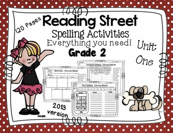 Spelling Activities Reading Street - Grade 2 Unit One
