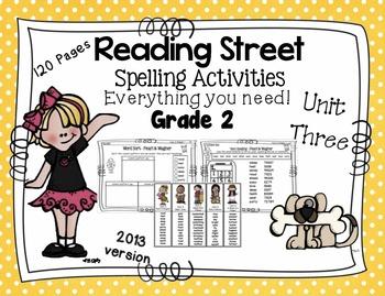 Spelling Activities Reading Street - Grade 2 Unit Three