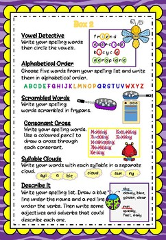 Spelling Activities Set 2