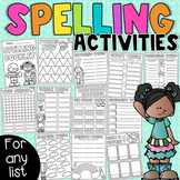 Spelling Activities – Word Work for ANY list - Distance Learning