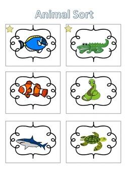 Spelling Activities|Words Their Way|Concept Sort Animals