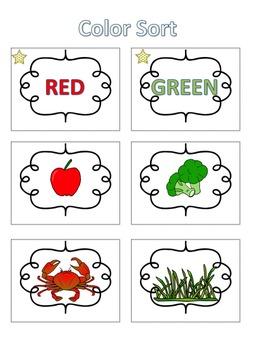 Spelling Activities|Words Their Way|Concept Sort Colors