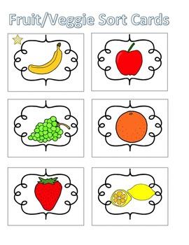 Spelling Activities|Words Their Way|Concept Sort Fruits and Veggies