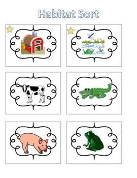 Spelling Activities|Words Their Way|Concept Sort Habitats