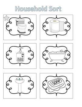 Spelling Activities|Words Their Way|Concept Sort Household