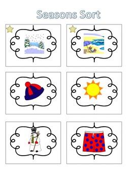 Spelling Activities|Words Their Way|Concept Sort Seasons