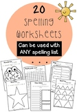 Spelling Activities Worksheets for ANY list