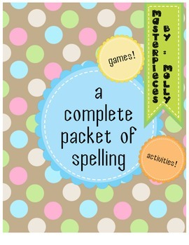 Spelling Activities and Games GALORE!