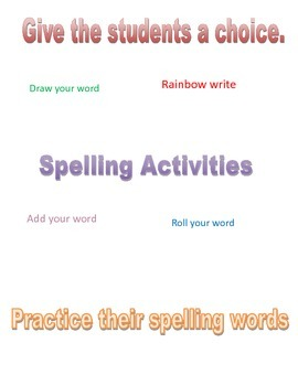 Spelling Activities for Any Grade