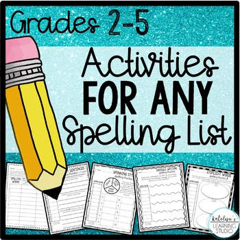 Spelling Activities for Any List of Words
