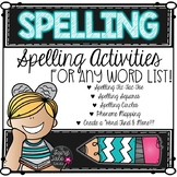 Spelling Word Work Activities for Any List