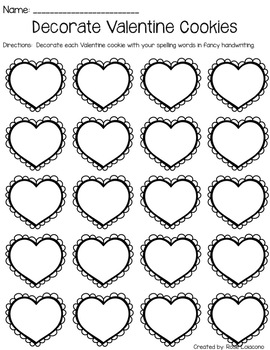 Spelling Activities for Any List- Valentine's Themed NO PREP