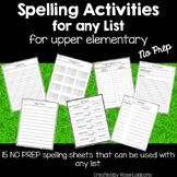 Spelling Activities for Any List for Upper Elementary