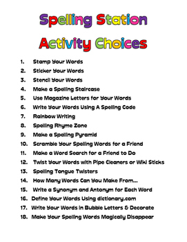 Fun Spelling Activities for Any Word List