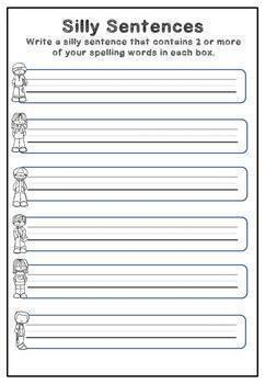 Spelling Activities  for Any Words (Grades 4 - 8) 20 Worksheets