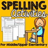 Spelling Activities for Any Words (Middle and Upper Elementary)