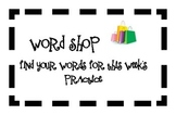 Spelling Word Work Activity Cards