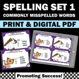Spelling Task Cards Set 1 Commonly Misspelled Words, Literacy Centers Rotation