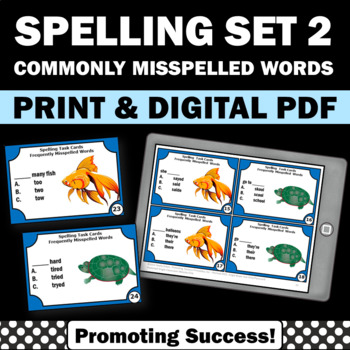 Spelling Activities Set 2 Commonly Misspelled Words Litera