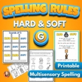 Spelling Activities for Hard and Soft G