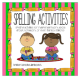 Spelling Activities for Literacy Stations!