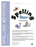 Spelling Activities for Spelling Lists