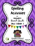 Spelling Activities for Wonders 2nd Grade Unit 1 Week 1 Freebie