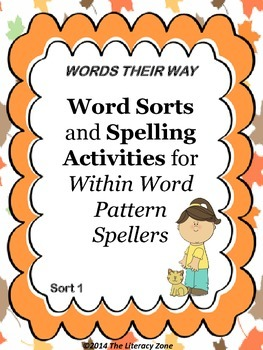 Spelling Activities for Words Their Way Within Word Patter