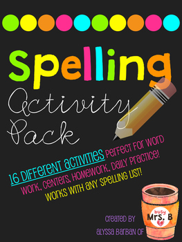 Spelling Activities for all ages!