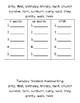 Spelling Activities ir/ur patterns